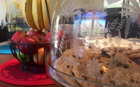 Snacks available in the dining room all day